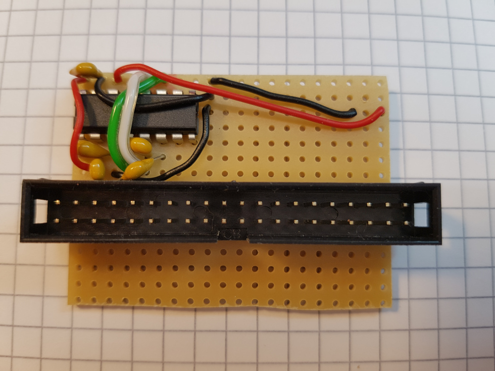 RS232 Pegelwandler auf der Leiterkarte