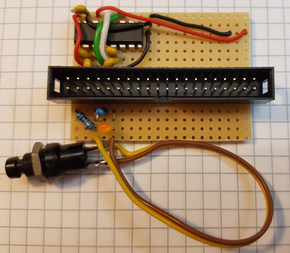 Shutdown Taster - Taster mit 10kOhm Pull Up Widerstand und Brücke