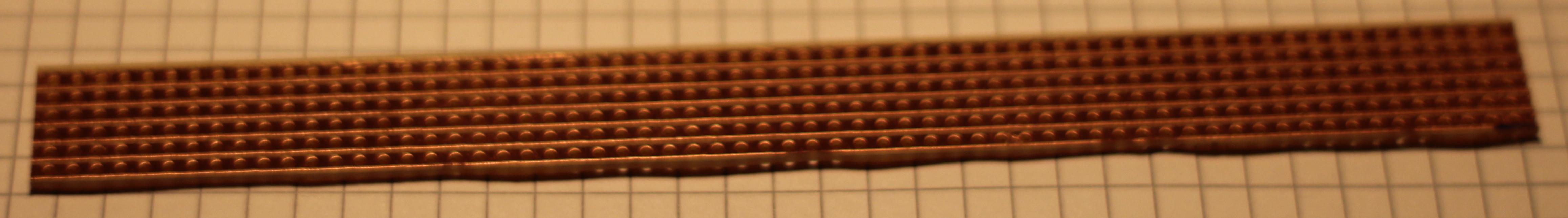6 Streifen von Europaformat Streifenrasterplatine abgesägt