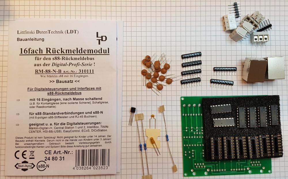 s88 Rückmelder Bausatz von Litfinski
